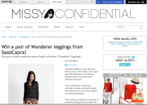 http://www.missyconfidential.com.au April 2013